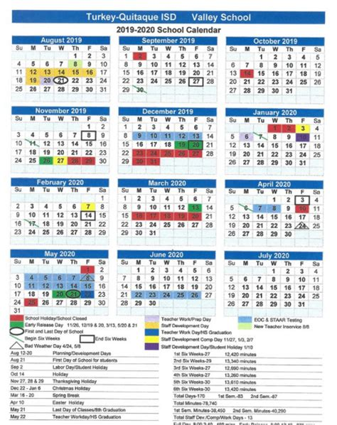 turkey quitaque isd valley school calendar