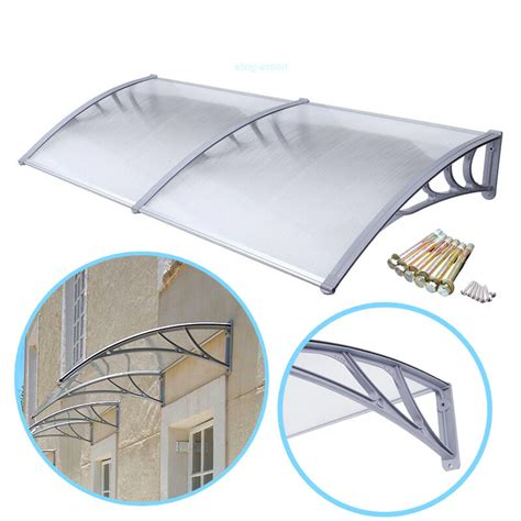 ft diy overhead clear outdoor awning patio cover door rain window awning ebay