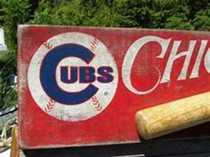 DIY Chicago Cubs Canvas I made my dad for Christmas