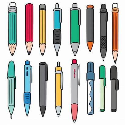 Pen Vector Pencil Pens Drawing Vectors Clip