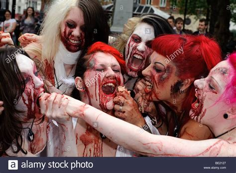 zombies leicester london square alamy