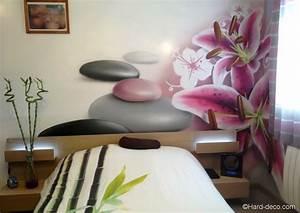 Deco Interieur Zen : int rieur japonais d coration deco murale chambre design chambre zen fleur de lys et galets ~ Melissatoandfro.com Idées de Décoration