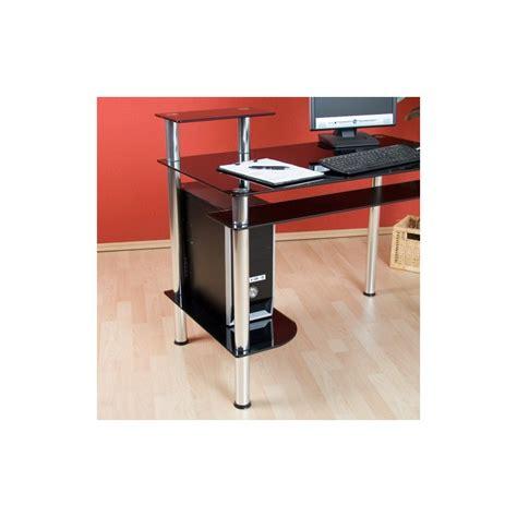 bureau noir design bureau informatique design en verre noir bureau