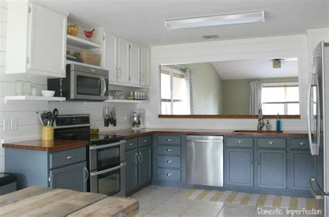 farmhouse 2 tone kitchen cabinets my painted kitchen cabinets five years later domestic