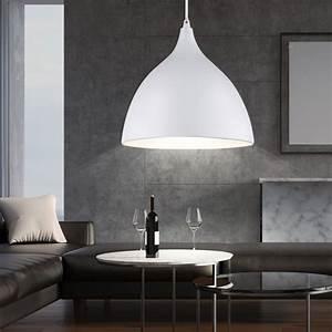 Suspension Luminaire Blanc : suspension luminaire plafond m tal blanc e27 salle de ~ Teatrodelosmanantiales.com Idées de Décoration