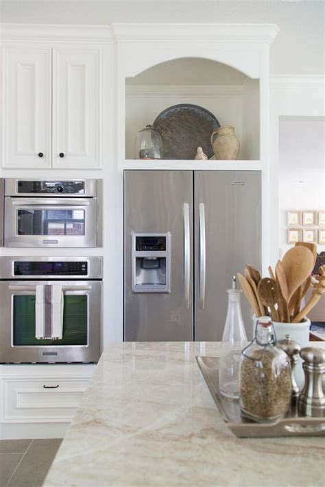 32 Kitchen Cabinets Around Refrigerator for more Storage Space