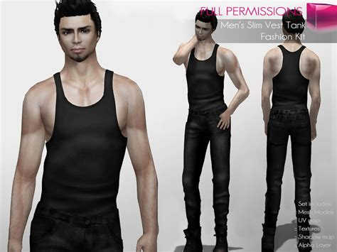 Second Life Marketplace Full Perm Rigged Mesh Men Slim