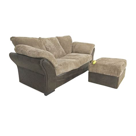 81 Off Unknown Brand Brown Sofa Bed And Ottoman Sofas
