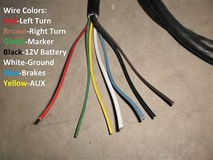 7 Way Molded 6 Foot Trailer Wire Light Plug Cord Connector