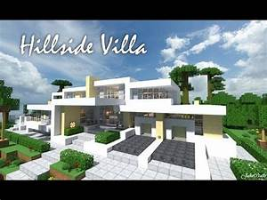 Hillside Villa House Modern Minecraft Project