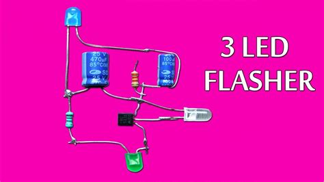 Led Flasher Circuit Using Only One Transistor Youtube