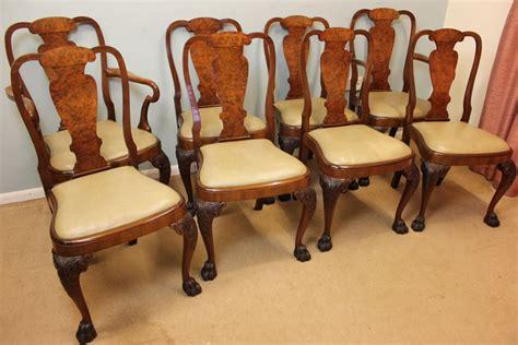 vintage walnut dining room set set eight antique walnut dining chairs 282195 8847