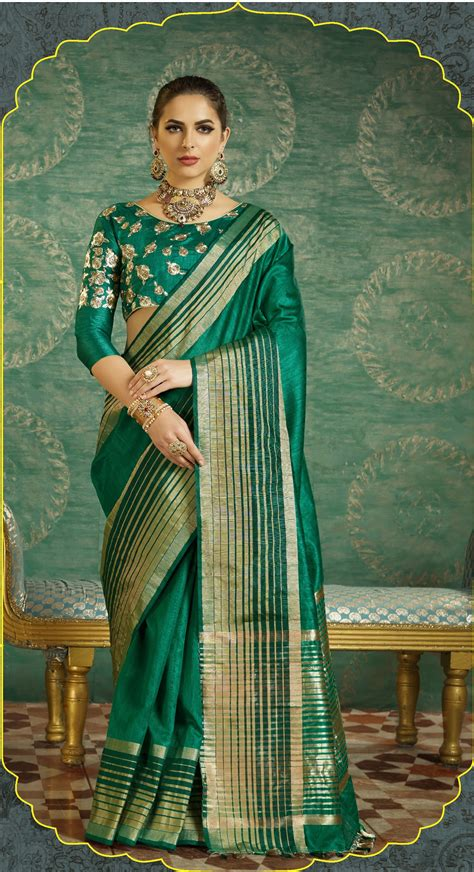 buy dark green handloom weaving silk saree  uk usa  canada