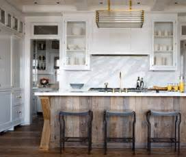 wood island kitchen kitchen of the week distressed wood and brass an interior design