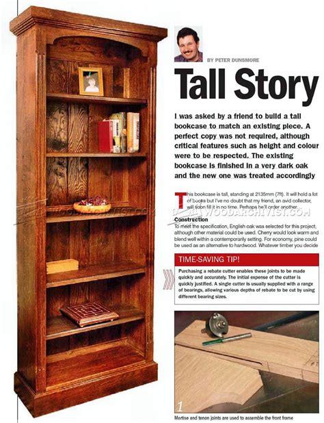 tall bookcase plans woodarchivist