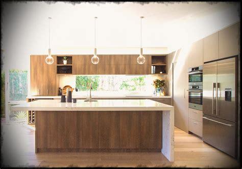 modern island kitchen large modern kitchen in warm tones with a island 4203