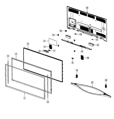 Diagram Of Television by Samsung Plasma Tv Parts Model Pn64f8500afxzaus01 Sears