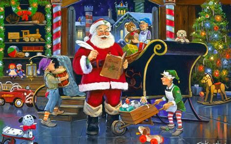 Santa S Workshop Wallpaper Animated - around the world in one santa s project management