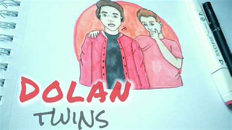 drawing dolan twins drawing youtubers episode  youtube
