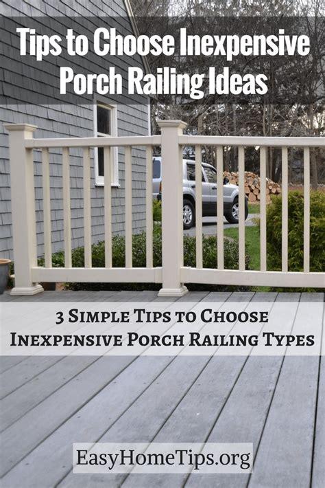choose inexpensive porch railing ideas