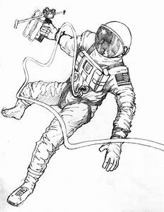 Astronaut Drawing (page 2) - Pics about space