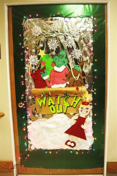 grinch door decorating christmas pinterest
