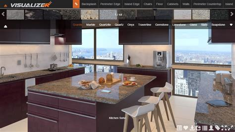 marble design tools edges and kitchen visualizer