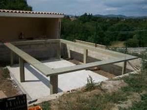 Piscine Semi Enterrée Coque : montage de piscine hors sol jardin sur enperdresonlapin ~ Melissatoandfro.com Idées de Décoration