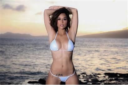Tianna Gregory Bikini Lingerie Hair Shoot Brown