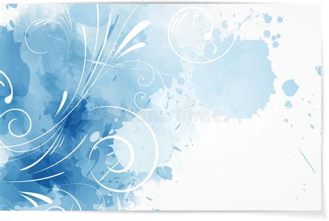 Swirly Abstract Watercolor Background Stock Vector Business Thank You Card Template Free App Scan For Artist Design Your Own Ideas Arts And Crafts Human Transcription Visiting Album Online