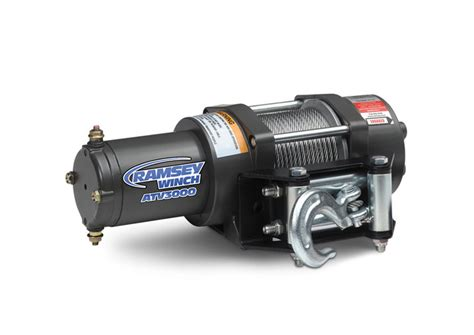 atv3000 w steel cable ramsey winch be mighty