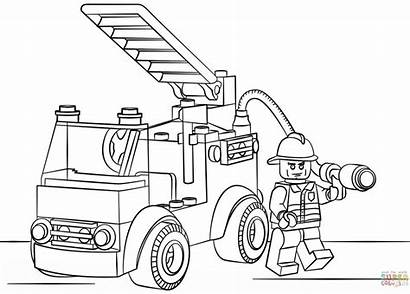 Coloring Truck Pages Ups Printable Fire Getcolorings