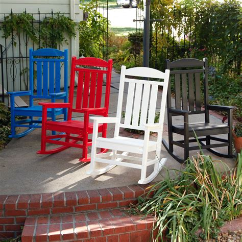 polywood 174 presidential recycled plastic rocking chair