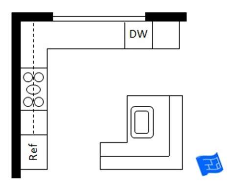 Galley Kitchen With Island Floor Plans - l shaped kitchen