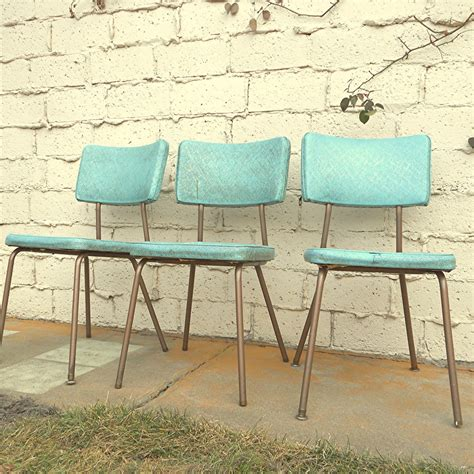 vintage kitchen chairs three vinyl turquoise chairs local