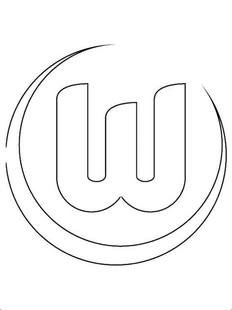 Kleurplaat Spaanse Vlag by Kleurplaat Met Vfl Wolfsburg Logo Gratis Kleurplaten