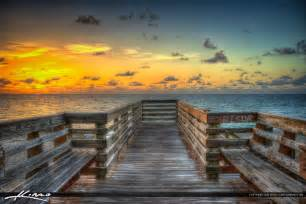 sunrise at the stairs stuart florida bathtub beach