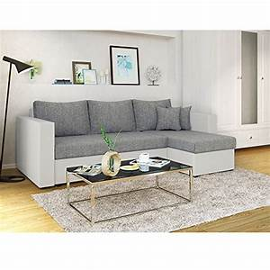 Schlafcouch Weiß Grau : ecksofa mit schlaffunktion grau wei stellma 224 x 144 cm liegema 200 x 140 cm sofa ~ Markanthonyermac.com Haus und Dekorationen