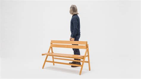 folding bench krystian kowalski industrial design