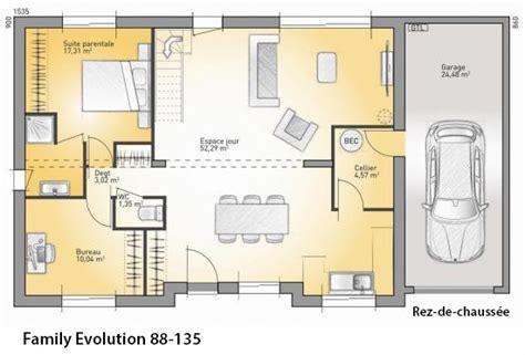 plan de maison a etage 5 chambres modèle et plans family evolution 88 135 du constructeur