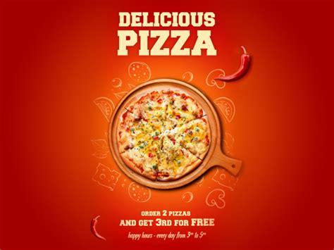 delicious pizza poster design mockup  psd designhooks