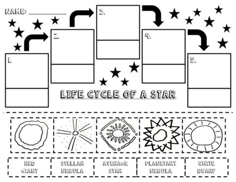 life cycle of a star activities packet by lyndsdive teaching resources tes