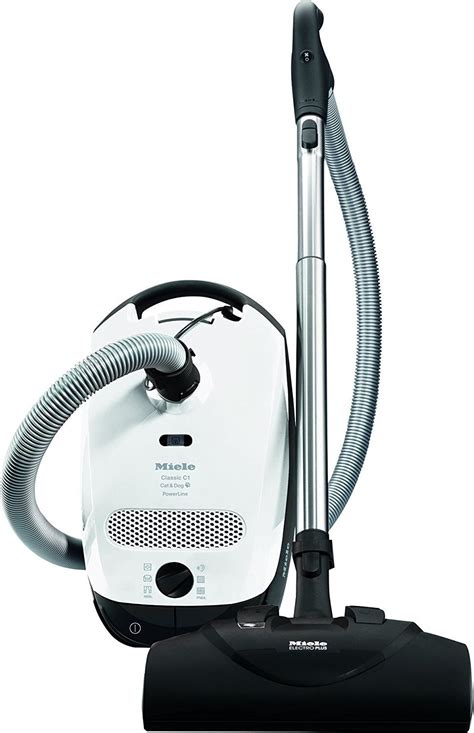 miele classic  cat  dog canister vacuum cleaner white
