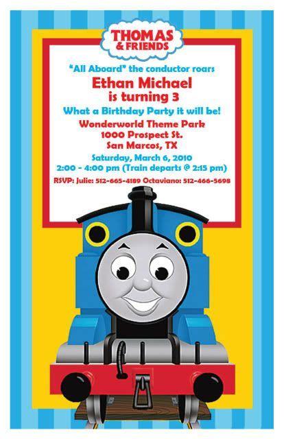 Thomas The Train Birthday Party Invitations Template