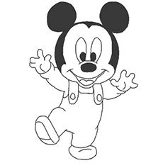top   printable mickey mouse coloring pages