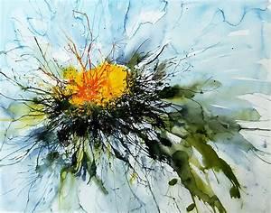 Aquarell Blumen Malen : galerie aquarell floral gepustet von karin mersmann ~ Frokenaadalensverden.com Haus und Dekorationen
