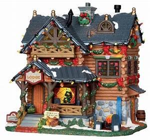 Maison De Noel Miniature : pine grove lodge villages de noel lemax village de no l miniature maison de noel et village ~ Nature-et-papiers.com Idées de Décoration
