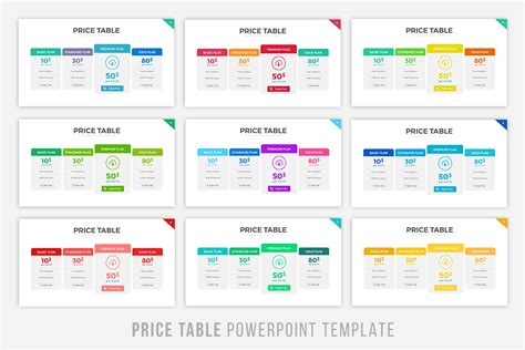 powerpoint table template price table powerpoint template by brandearth thehungryjpeg