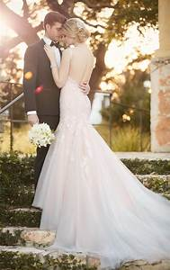 fit and flare wedding dress with low cut back essense of With low cut back wedding dresses