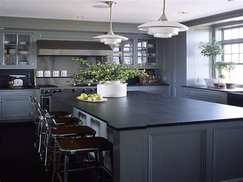 black countertops grey cabinets kitchens kitchen design gray ideas